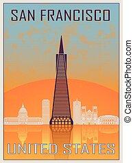 San Francisco 2 Vintage Poster