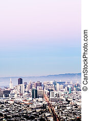 San Francisco Aerial Cityscape with Sky - San Francisco...