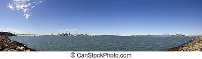 San Francisco Bay area from Treasure Island