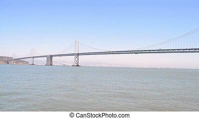 San Francisco, Bay Bridge, USA - Bay Bridge in sunny day in...