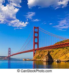 san francisco, brama złotego most, kalifornia