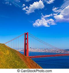 san francisco, brama złotego most, marin przylądki, kalifornia