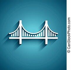 san francisco, bridzs, vektor, jel, tervezés