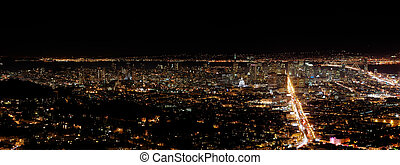 San Francisco by night - A view on San Francisco from Twin...