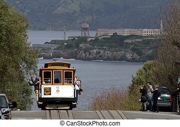 San Francisco Cable Car - San Francisco cable car on the top...