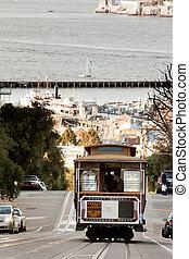 San Francisco Cable Car - A San Francisco cable car...