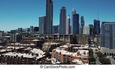 San Francisco, California, aerial video