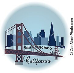 San Francisco California label logo