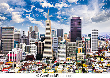 San Francisco, California Skyline - San Francisco,...