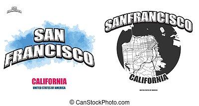 San Francisco, California, two logo artworks