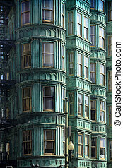 Flatiron buildings - SAN FRANCISCO, CALIFORNIA, USA - ...