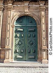 San Francisco Church door, Salvador, Bahia - Detail. Closed...