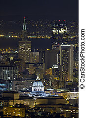 San Francisco City Hall Cityscape at Night