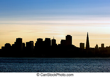 San Francisco - City silhouette at sunset