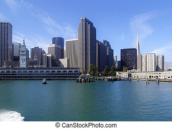 San Francisco cityscape from the bay - Beautiful skyline...