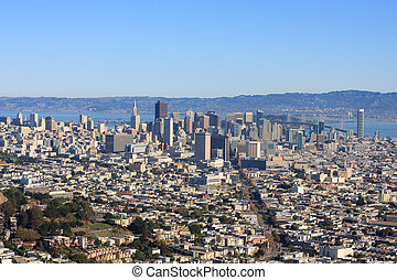 San Francisco Downtown from Twin Peaks (Wide)