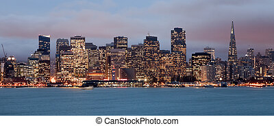 San Francisco Downtown in the night
