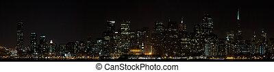 San Francisco Downtown Skyline at Night