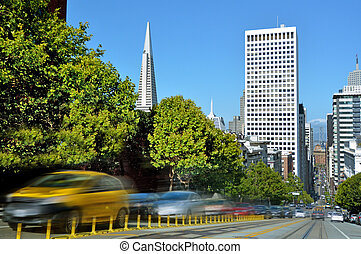 San Francisco downtown skyline California USA