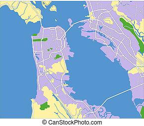 San Francisco - layered vector map of San Francisco.