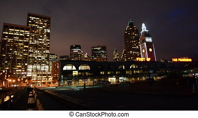 San Francisco Ferry Building night - San Francisco Ferry...