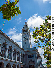 San Francisco Ferry Building on Bright Summer Day