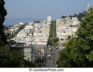San Francisco From Lombard Street - The view of San...