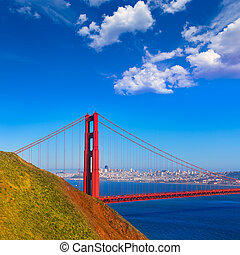 San Francisco Golden Gate Bridge Marin headlands California