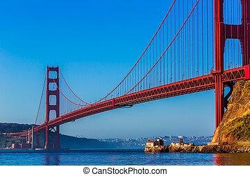 san francisco, goldene torbrücke, kalifornien