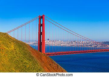 san francisco, goldene torbrücke, marin landspitzen, kalifornien