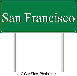 San Francisco green road sign