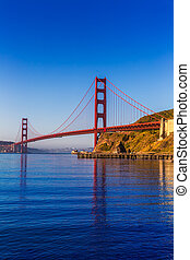san francisco, gylden låge bro, californien