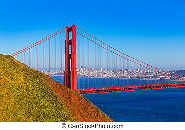 san francisco, gylden låge bro, headlands marin, californien