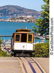 San francisco Hyde Street Cable Car California - San...