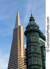 San Francisco Icons Transamerica Pyramid and the Columbus...