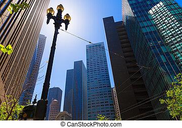 San Francisco Market Street Downtown in California USA