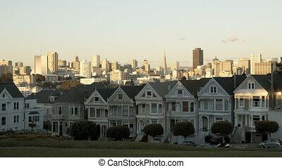 San Francisco Painted Ladies sunset Timelapse