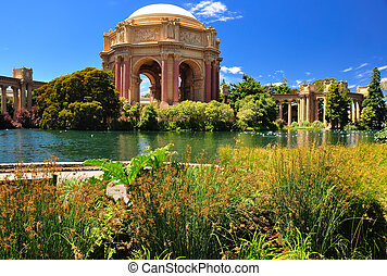 San Francisco park Palace of Fine Arts, California, USA