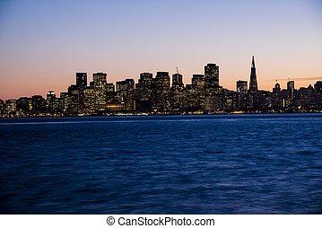 San Francisco - The city of San Francisco at sunset.