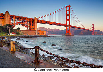 San Francisco. - Image of Golden Gate Bridge in San...