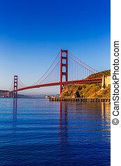 san francisco, pont porte or, californie