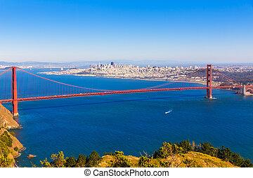 san francisco, pont porte or, promontoires marin, californie