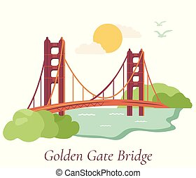 San Francisco poster with Golden Gate Bridge
