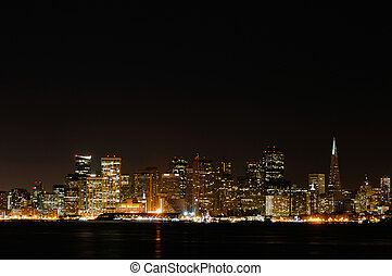 San Francisco - San francisco city skyline during night time