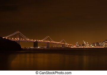 San Francisco skyline at night - San Francisco is a popular...