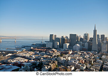 San Francisco skyline captured from Coit Tower.