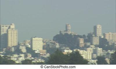 San Francisco Skyline panning