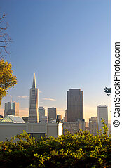 San Francisco Skyline - San Francisco skyline as seen from...