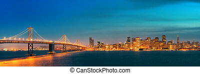 San Francisco skyline - San Francisco city skyline panorama...