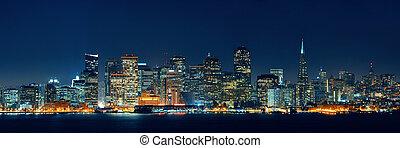 San Francisco skyline - San Francisco city skyline with...